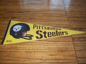 Sports Memorabilia Pennants Vintage Pittsburgh Steelers NFL