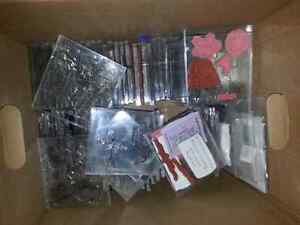 HUGE lot of rubber and clear stamps