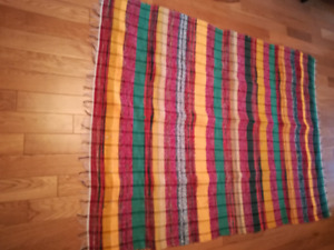 Colourful Indian throws, perfect condition