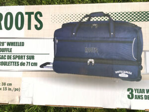 Brand new Roots duffle bag