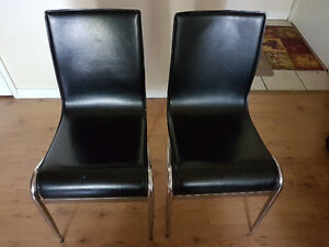 Two black chair