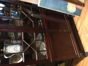 Antique corner cabinet mohagany wood