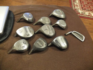 GOLF CLUBHEADS, LEFT, DRIVERS, 3WOODS, 5WOODS, 9WOOD, 3IRON