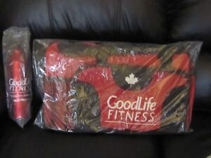 NEW GOODLIFE GYM BAG AND WATER BOTTLE