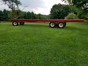 32 ft 18 ton steel hay bale wagon! nice one!
