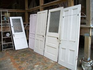 antique doors from 1950s cottage