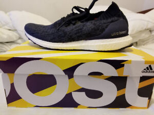 New adidas Men's Ultra Boost Uncaged Running Shoes - Blue Ink