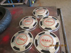 5-   GMC DOG DISH HUB CAPS--10inch-$24 each