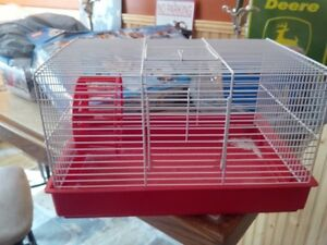 Wire Hamster Cage. Food. Treats. Bedding. House. Running Wheel.