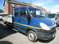 2013 Iveco DAILY 50C15 CREW CAB ALLOY DROP SIDE TIPPER 150 BHP CAN TOW 3.5 TON N