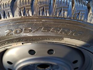 WINTER TIRES AND RIMS  205/55/16 West Island Greater Montréal image 3