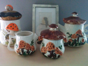 Mushroom Tea Set & Cookie Canister