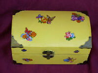 HAND PAINTED TREASURE CHEST OR GOD BOX