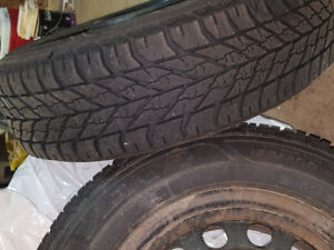 4 winter tires off a Hyundai Accent on trims.