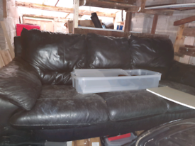 3 seater leather sofa free