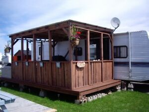Trailer for rent Gagnon Beach Campground