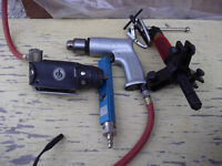 TOOLS = 2 AIR RATCHETS + 2 PULLEYS + 1 AIR GAGE