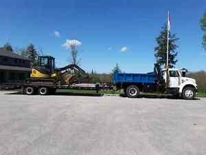 Package deal. Truck trailer and excavtor
