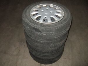 4 Tires with Rims 185/65/14 with Hub Caps For Corolla 1993-2002