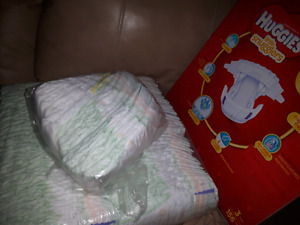 Diapers $0.18/each. A case and a half of Size 3.