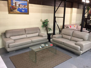 TOP REAL LEATHER SOFA SET ON SALE $1899