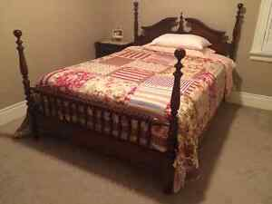 Roxton Maple Queen Bed Frame.