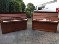 Small modern walnut upright piano by squire & Longson| Belfast pianos |