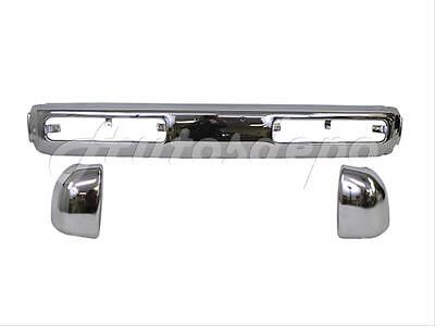(FRONT BUMPER CENTER BAR CHR & END/CAP 3PC For 93-95 HARDBODY PICKUP)