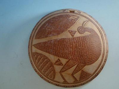 0915A1-072: Afrika Afrikana Kalebasse als Schale mit Vogeldarstellung