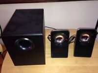 13w 2 channel speakers with sub woofer