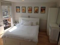 Large Double Room with Massive Windows and Sofa in Gated Square
