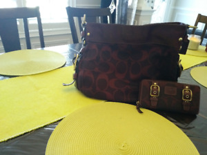 Original Coach Purse with a matching original coach wallet