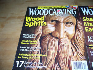 WOODCARVING BOOK AND 2 WOODCARVING ILLUSTRATED MAGAZINES