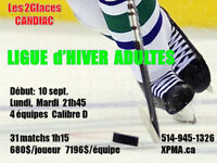Hockey- Ligue Hiver Adultes- Candiac