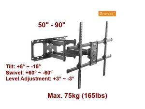 """Articulating Wall Mount - 50""""- 90"""" TV's"""