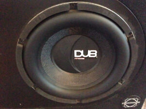 DUB Subwoofer with a JBL amp
