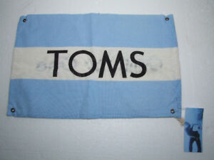 TOMS blue white fabric keepsake dust bag New with tags
