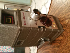 Vintage 8mm Bell Howell Camera + Leather Case