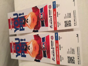 Hockey tickets- Montreal/Avalanche  NEGOTIABLE