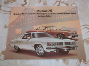 BROCHURE AUTO PONTIAC LE MANS ( 1976 )