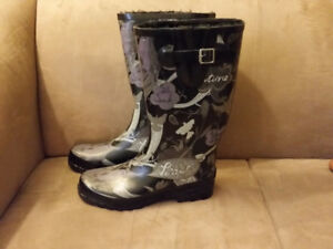 Pile Lined Rubber Boots Size 9