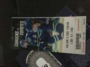 Canucks tickets- last game for the sedins!