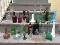 Set of vintage bottles/vases