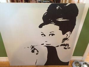 Audrey Hepburn Large Canvas Picture