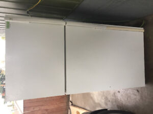 White Fridge and electric stove for sale