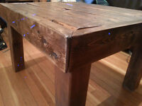 Beautiful coffe table made from reclaimed lumber