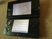 3DS Cosmos Black, plus cases and box