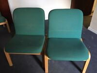 Pair Of reception waiting room chairs