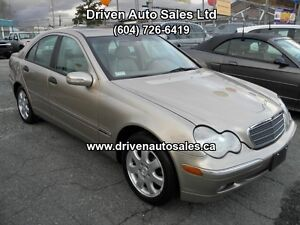 2003 Mercedes-Benz C-Class C240 4Matic All Wheel Drive Sedan