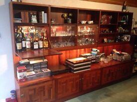 rosewood veneer side cabinet